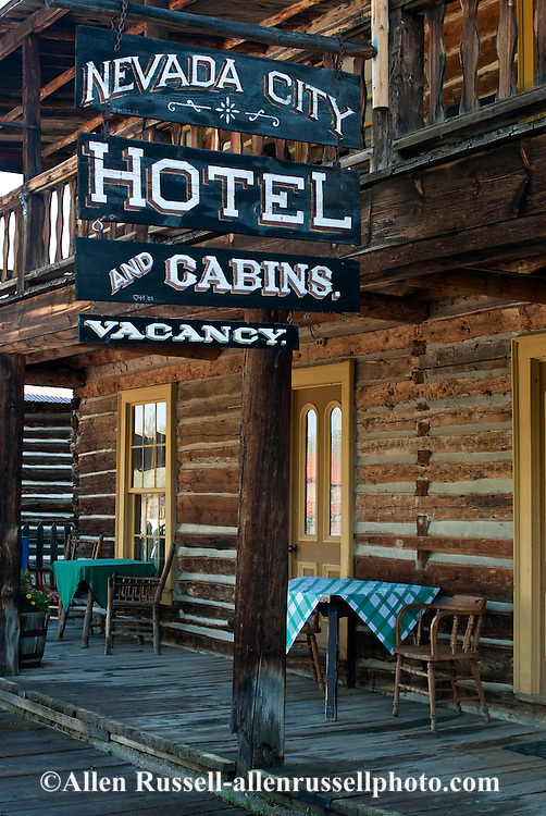 Nevada City, Montana, restored mining town. hotel
