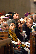 l to r: Amiri Baraka, Sonia Sanchez, Guest, and Avery Brooks at the Celebration of the Life and Legacy of Dr. Barabara Ann Teer at the Memorial Service held at The Riverside Church in Harlem, NY on Monday, July 28, 2008