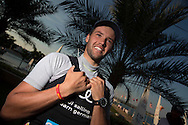 The Laser World Championships 2013 -  Standard. Mussanah Oman<br /> The final day of racing, Philipp Buhl (GER) shown here in action and celebrating after finishing 3rd overall<br /> <br />  Oman.Credit: Lloyd Images.