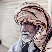 Elderly blind man from Mathura