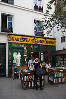 shakespeare and company Paris France in Spring time of May 2008