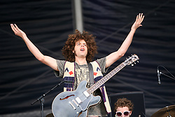 Andrew Stockdale of Wolfmother on the NME stage..T in the Park, Sunday 2006..©Michael Schofield..