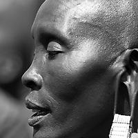 Maasai woman profile closeup