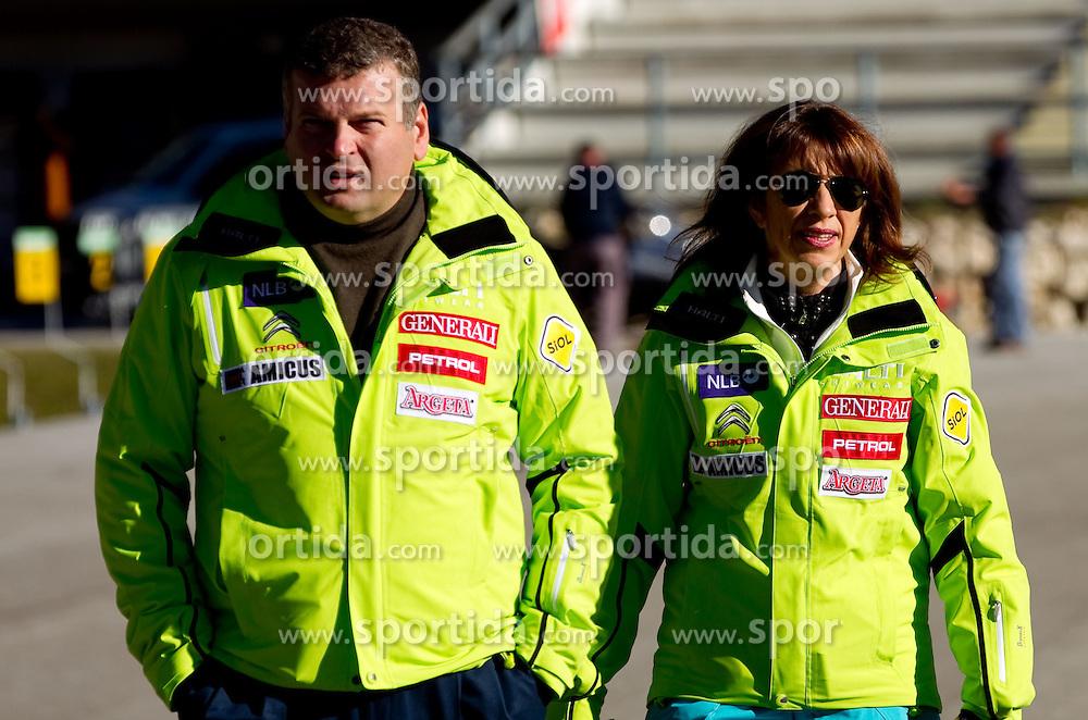 Tomaz Lovse and Barbara Kuerner Cad during media day of Slovenian Alpine Ski team on October 17, 2011, in Rudno polje, Pokljuka, Slovenia. (Photo by Vid Ponikvar / Sportida)