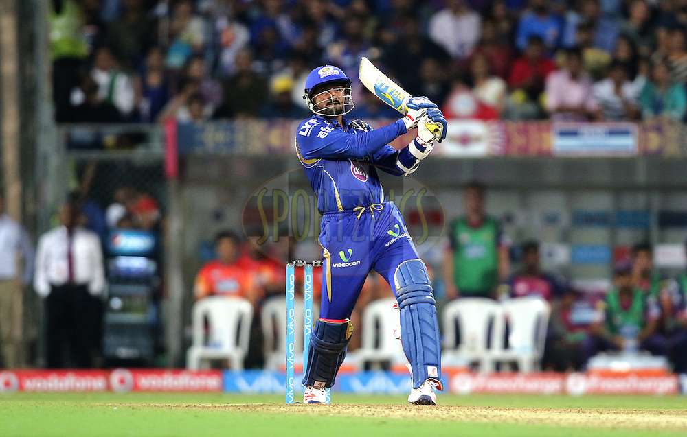 Harbhajan Singh of MI during match 1 of the Vivo Indian Premier League ( IPL ) 2016 between the Mumbai Indians and the Rising Pune Supergiants held at the Wankhede Stadium in Mumbai on the 9th April 2016<br /> <br /> Photo by Rahul Gulati/ IPL/ SPORTZPICS