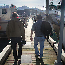Duke and Bill at the Marina, Cordova, Alaska, US