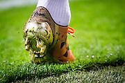 AMSTERDAM - Nederland - USA , Amsterdam ArenA , Voetbal , oefeninterland , 05-06-2015 , De nieuwe oude schoenen van Memphis Depay