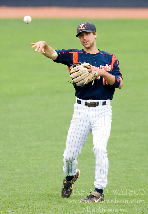 Virginia Cavaliers infielder Tyler Cannon (10).  The Oregon State Beavers defeated the Virginia Cavaliers 7-3 in Game 7 of the NCAA World Series Charlottesville Regional held at Davenport Field in Charlottesville, VA on June 5, 2007.  With the win, the Beavers advance to the NCAA Super Regional.