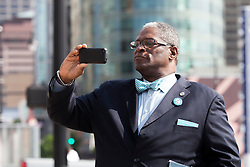 Kansas City Mayor Sly James at KC Streetcar groundbreaking ceremony, May 22, 2014.