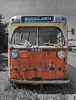 An old bus . trolly at the Seashore Trolley Museum in Maine