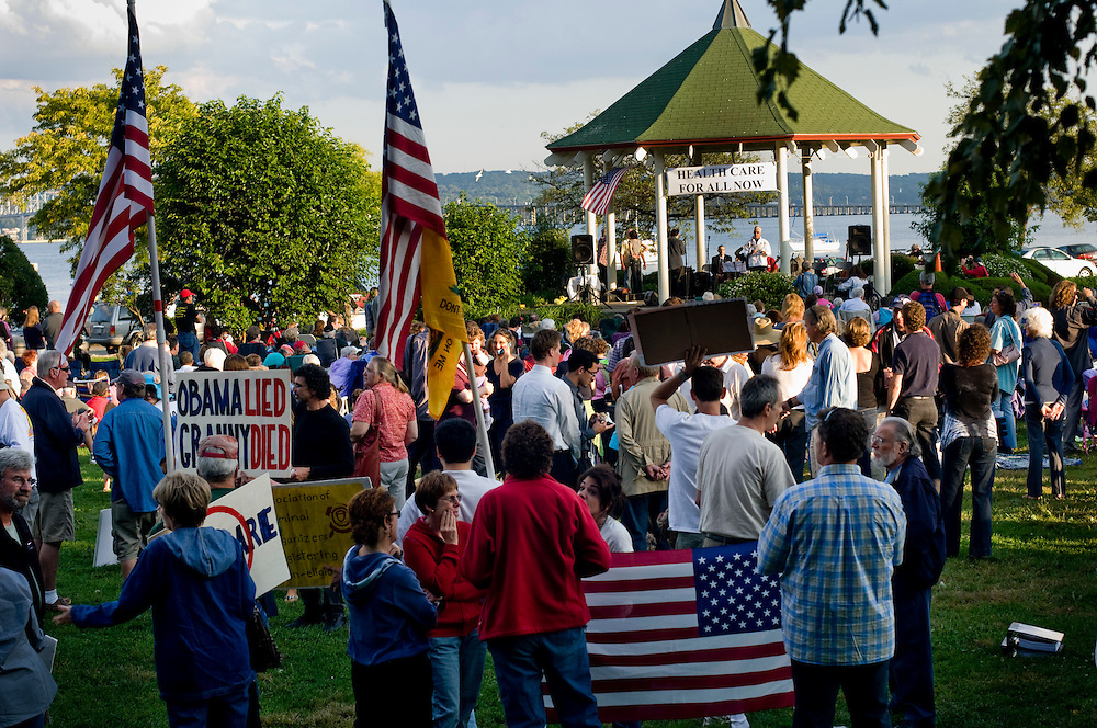 Rally for healthcare reform in Nyack, New York...Photographer: Chris Maluszynski /MOMENT