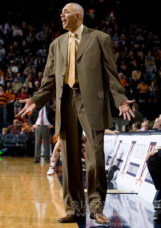 Virginia head coach Dave Leitao.  The Virginia Cavaliers men's basketball team defeated the Elon Phoenix 91-61  at the John Paul Jones Arena in Charlottesville, VA on December 22, 2007.