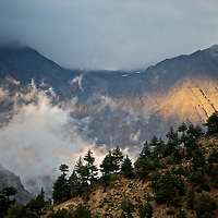 Landscape around the village of Nesang in Himachal Pradesh, India