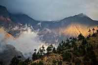 Landscape around the village of Nesang in Himachal Pradesh, India
