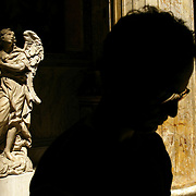 A tourist at the Pantheon Wednesday, May 29, 2002, in Rome, Italy...Photo by Khue Bui