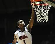 "Ole Miss' Terrance Henry (1) vs. Illinois State in a National Invitational Tournament game at the C.M. ""Tad"" Smith Coliseum in Oxford, Miss. on Wednesday, March 14, 2012. (AP Photo/Oxford Eagle, Bruce Newman)"