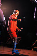 Rufus Thomas, Jr. was an American rhythm and blues, funk and soul singer and comedian from Memphis, Tennessee, who recorded on Sun Records in the 1950s and on Stax Records in the 1960s and 1970s. He is performing on Beale Street in 1990.
