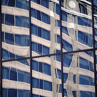 One building reflected in another in downtown Washington, DC