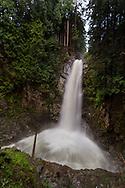 Cascade Falls as seen from the second viewing platform in Cascade Falls Regional Park near Durieu, British Columbia, Canada