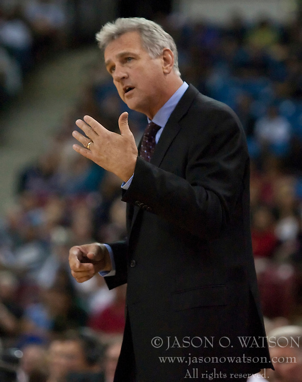October 23, 2009; Sacramento, CA, USA;  Sacramento Kings head coach Paul Westphal during the fourth quarter against the Utah Jazz at the ARCO Arena.  The Jazz won 95-85.