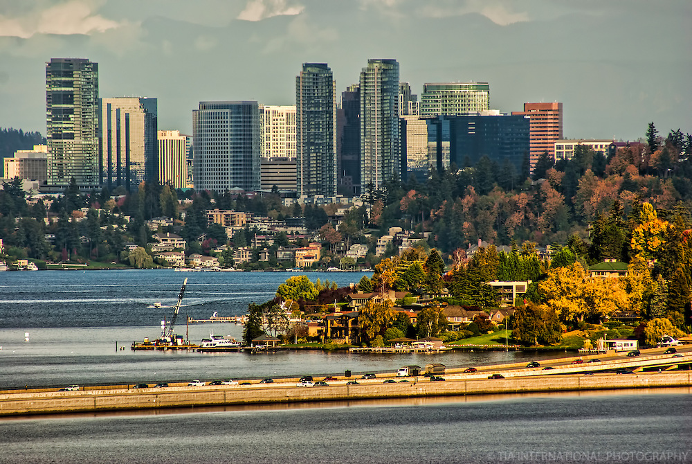 Bellevue Skyline & Lake Washington (Day)