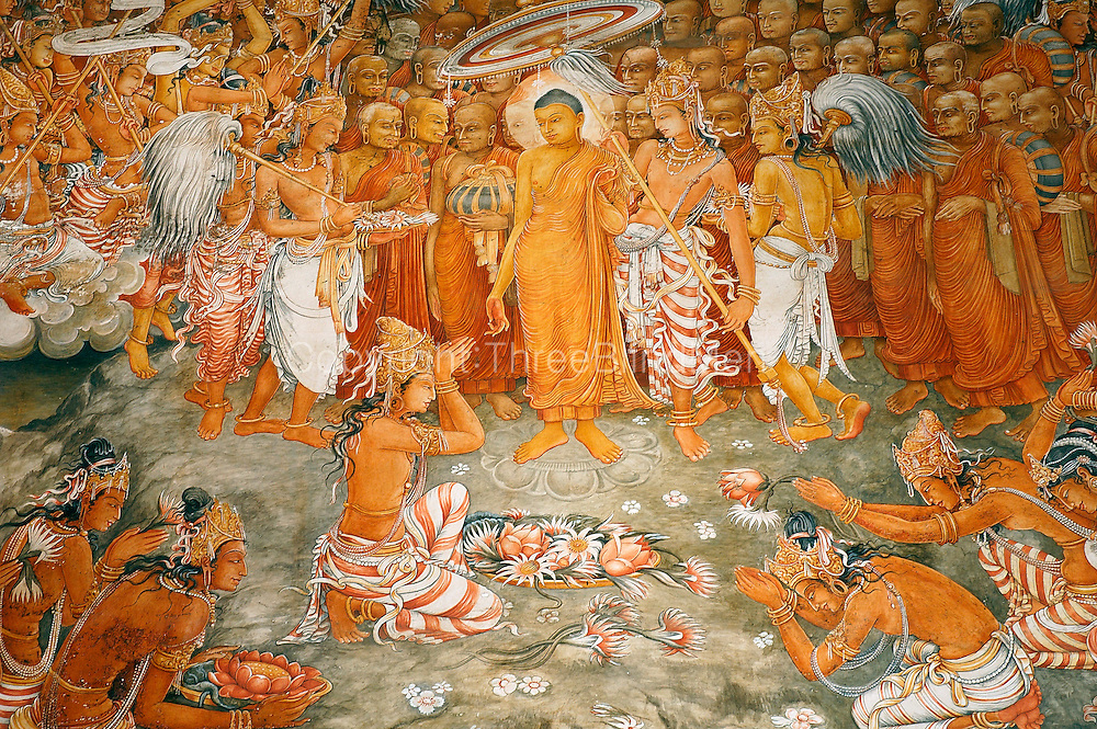 Murals by Solius Mendis at Kelaniya Temple.