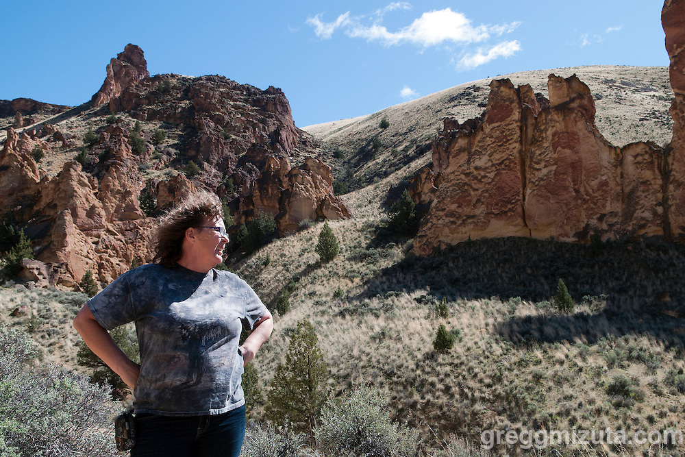 Andrea Davis in Juniper Gulch.<br />