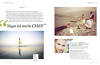 Interview article at Yoga Deutschland Magazine