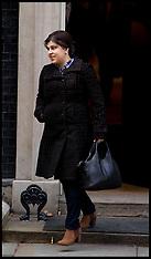 FEB 05 2013 Sayeeda Warsi leaving No10 Downing Street