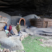 "May 2010, Lesotho. Farming activity as the maize harvest is brought in before the winter. Ha Kome caves, where people from the same family have lived uninterrupted since the ""difaqane"" - a forced migration that took place as a consequence of a  series of wars that took place between 1795 and 1870"