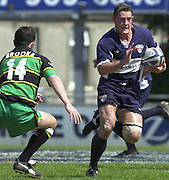 01/06/2002.Sport -Rugby  Union.Zurich Championship - Semi final.Bristol Shoguns_vs_Northampton Saints.David Rees   [Mandatory Credit, Peter Spurier/ Intersport Images].