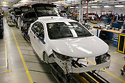 Pre-production Chevrolet Volts are assembled for testing and verification at GM's Pre-Production Operations facility in Warren, MI, August 56, 2009. Executives and engineers from the Volt's Hamtramck assembly plant were also there learning about production requirements specific to the range-extended plug-in. (Jeffrey Sauger)