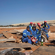4 July 2009, Soweto, South Africa. Soccer City Stadium. Preparations for Fifa Football World Cup 2010.
