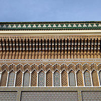 Africa, Morocco, Fes. Royal Palace of Fes architecture.