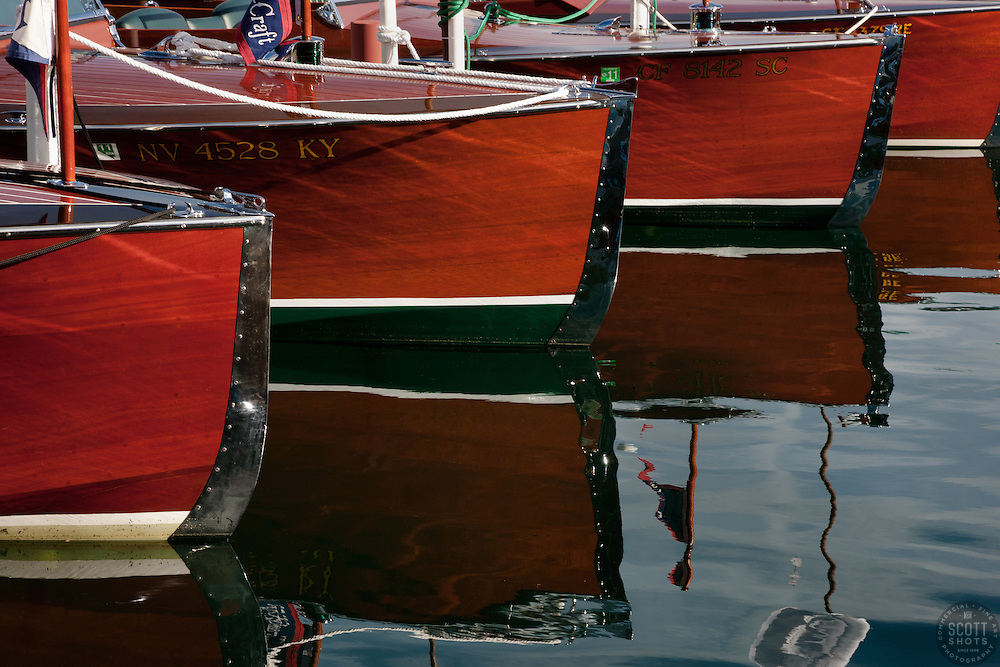 """Wooden Boats on Lake Tahoe 1"" - These classic wooden boats were photographed at the 2011 Tahoe Concours d'Elegance."