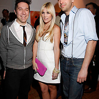 """Brian Wolk, Tinsley Mortimer and Claude Morais attends the opening of """"Lady"""" by Douglas Friedman at the Ruffian Gallery on April 23, 2009 in New York City."""