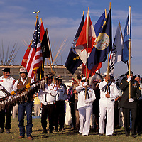 Eagle staff and honor guard, Grand Entry,  North American Indian days, Blackfeet Indian Reservation, Browning, Montana, USA