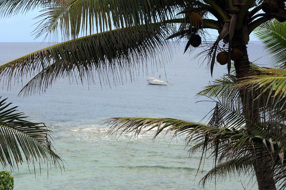 Rocky coastline, Pacific Mission 2012, Alofi, Niue, Wednesday, July 25, 2012. Credit:SNPA / Ross Setford