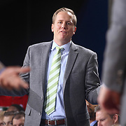 Delaware 87ers Head Coach KEVIN YOUNG calls for his players during a time out in the second half of a NBA D-league regular season basketball game between the Delaware 87ers and the Westchester Knicks  Saturday Dec, 26, 2015 at The Bob Carpenter Sports Convocation Center in Newark, DEL