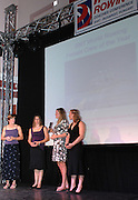 Budapest, HUNGARY, 10/11/2007.  GBR W4X Female Crew of the year [2006],  at the 2007 FISA Coaches Conference. left to right, Katherine GRAINGER, Annie VERNON, Frances HOUGHTON and Debbie FLOOD. [Mandatory Credit Peter Spurrier/Intersport Images]