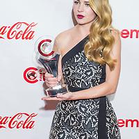 LAS VEGAS - APR 23 : Actress Britt Robertson, winner of CinemaCon's 2015 Star of Tomorrow award, attends the 2015 Big Screen Achievement Awards on April 23 2015 in Las Vegas