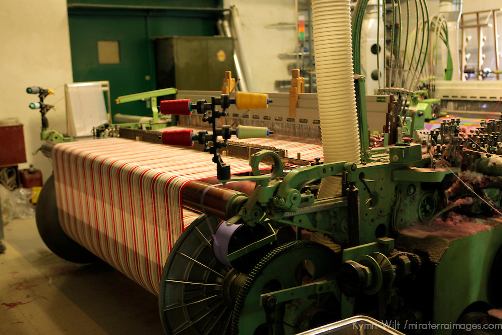 Europe, Ireland, Avoca. Woollen Weaving Loom at Avoca Handweavers Mill, County Wicklow.