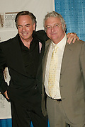 Neil Diamond with inductee Randy Newman at the 33rd Annual Songwriters Hall Of Fame Awards induction ceremony at The Sheraton New York Hotel in New York City. June 13 2002. <br /> Photo: Evan Agostini/PictureGroup