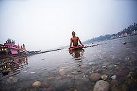 Deepak Deka, meditation in the Gange