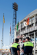 ROTTERDAM - Feyenoord - FC Utrecht , Voetbal , Seizoen 2015/2016 , Eredivisie , Stadion de Kuip , 08-08-2015 , Politie aanwezig op het plein voor de Kuip