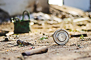 The accident happened just before the workers who would have come out of the factory to have their lunch.An unopened lunch box laying on the grounds inside the factory. Image © Balaji Maheshwar/Falcon Photo Agency