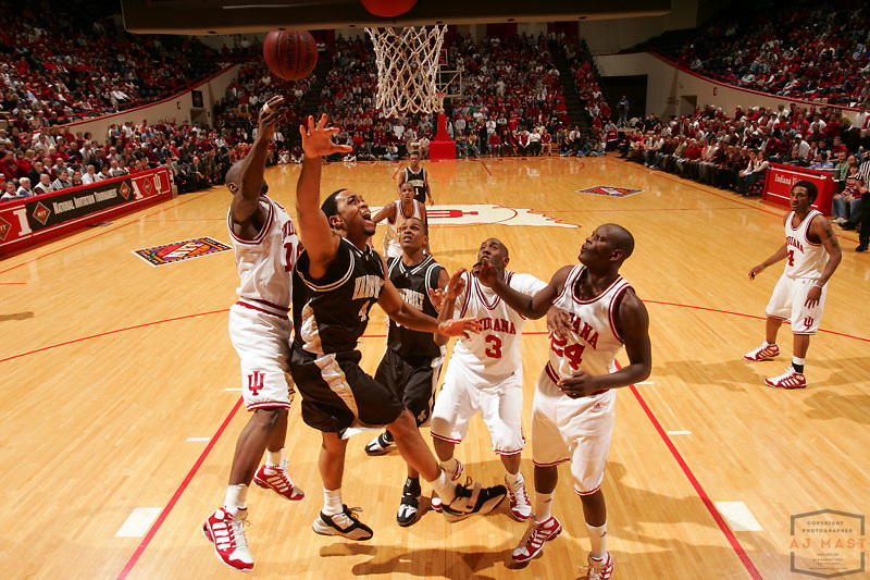 Vanderbilt's Corey Smith (44) as Indiana lost 67-60 to Vanderbilt in the opening round of the 2005 NIT at Assembly Hall in Bloomington, Ind., Wednesday, March 15, 2005.  (Mandatory Credit: AJ Mast/Ronin Images)......***LOW RES FPO ONLY, HIGH RES AVALIBLE OFFLINE***