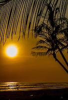 Beach sunset Cost Rica