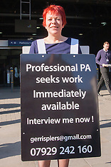 2014-05-16 Unemployed woman-sandwich board