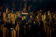 Sao Paulo, Brasil, August 17 of 2007: Aerial view of Sao Paulo downtown. Photo: Caio Guatelli